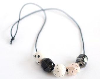 Ceramic Bead Necklace #4