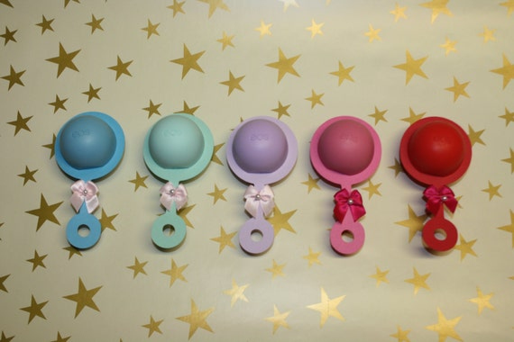 10 eos lip balm baby shower sprinkle favor rattle with lip balm