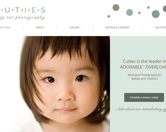 Shabby Chic Website Template built on the WIX Platform - Kid Photography Ready-Made - Child and Toddler Photography
