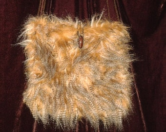 Fun faux fur cross-body purse
