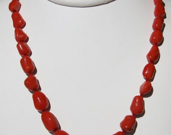 CORAL necklace Corsica 1st category certified