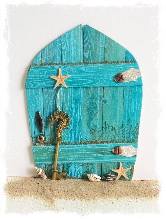 New handcrafted water fairy door mermaid by for The works fairy door