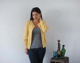 Simple Yellow Cardigan