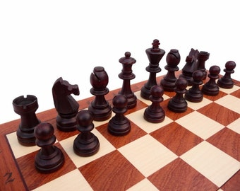Professional Tournament Wooden Chess Set - Weighted Pieces!