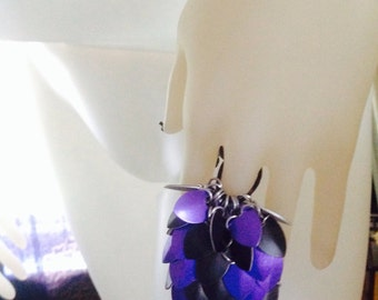 Chainling Keychain ring  purple and black