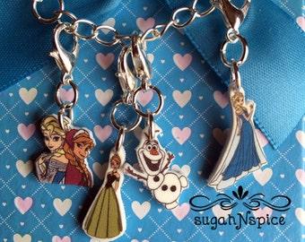 Frozen Charms - Frozen Charm Bracelet Charms - Elsa Bracelet Charm - Anna Bracelet Charm - Olaf Bracelet Charm - Sisters Charm Bracelet