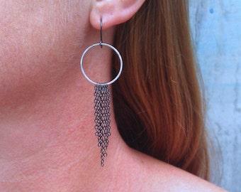 Dangle earrings, contemporary jewelry, minimalist jewelry, eco friendly jewelry, kinetic earrings, Terri Earrings