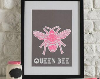 Queen Bee Screen Printed Wall Art