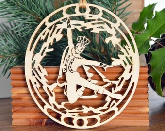 Ballet Dancer ornament wood cut design woodcut Ballerino decoration 10 Lords a Leaping of the 12 Days of Christmas
