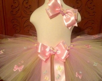Butterfly Spring Pink & Yellow Tutu