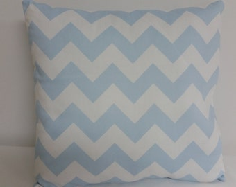 Nursery pillow cover, Baby Blue and White Chevron  pillow cover, throw  pillow, pillow cover, Blue  Pillow cover  , zig zag pillow cover