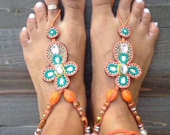 "SALE! SALE! 20% code ""loveyou"" barefootsandals, barefoot beach,foot jewelry,accessories,yoga,bohemian"