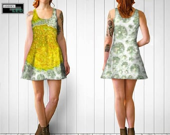 Yellow Bubbles Flare Dress