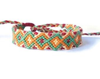 Handmade Friendship Bracelet - Arrowhead Pattern Design - Handmade Bracelet