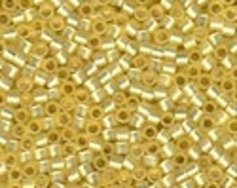 MIYUKI #11 Delica 623 - Silver Lined Daffodil Yellow Opal - 5 grams