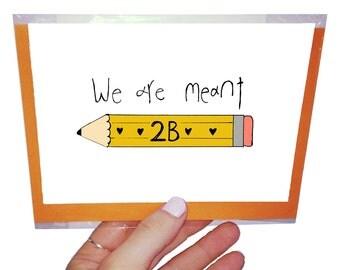 Orange Forest Valentine's Day card. 10.5 x 14.8 cm