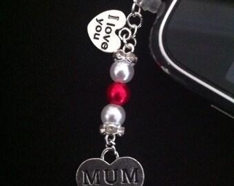 Mum Phone Charm