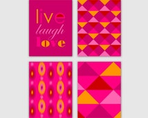 Fuchisa Hot Pink Wall Art Instant Download 4 Printable Images Home Decor Wall Decor 5x7 8x10 11x14