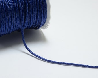 30m (98.4ft) (32.8 yards) 1.5mm Nylon Cords in Navy Blue, Chinese Knotting Cord, Spooled, Beading String for Beads #SD-S7759