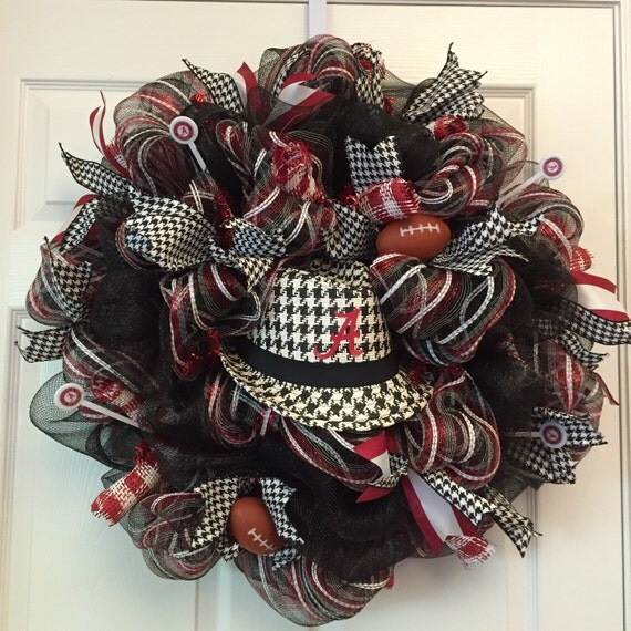 Items Similar To Alabama Houndstooth Fedora Wreath Al