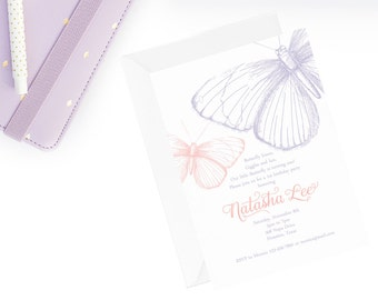 Butterfly Birthday Invitation   Butterfly Birthday Invite   Butterfly Invitation   Garden Party Invitation ! Garden Tea Invite