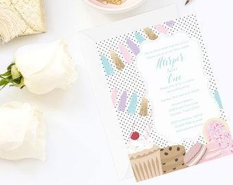Cookies and Milk Invite | Milk and Cookies Invitation | milk & cookies printable | birthday party invitation | cookie party invite | digital