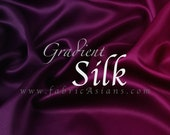 Burgundy Silk Satin. Gradient Stretch Silk. Heavy weight SSB100760