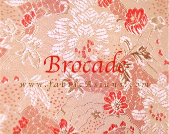 Pink Brocade. Chinese Brocade. Buy Asian Fabric online