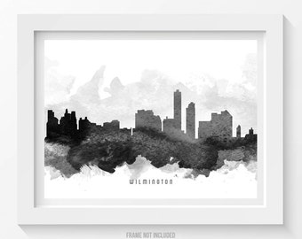 Wilmington Delaware Skyline Poster, Wilmington Cityscape, Wilmington Print, Wilmington Art, Wilmington Decor, Home Decor, Gift Idea 11