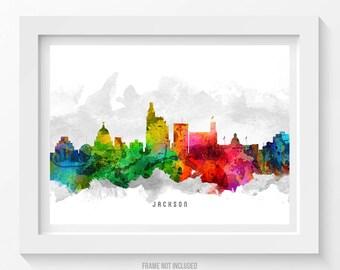 Jackson Mississippi Skyline Poster, Jackson Cityscape, Jackson Art, Jackson Decor, Home Decor, Gift Idea 12