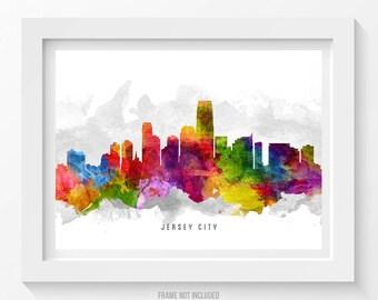 Jersey City Skyline Poster, Jersey City Cityscape, Jersey City Art, Jersey City Print,  Home Decor, Gift Idea 13