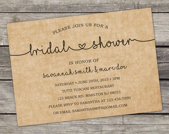 YOU PRINT Bridal Shower Invitation - Elegant Bridal Shower Invitation - Modern Bridal Shower  - Bridal Shower 144