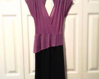 Vintage Dress Peplum Feminine Fitted