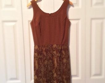 Vintage Dress Snake Print