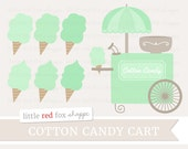 Cotton Candy Clipart, Mint Green Dessert Clip Art Sweet Carnival Fair Festival Sugar Girl Graphic Design Illustration Small Commercial Use