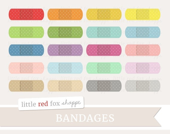 Pics For > Colorful Band Aid Clip Art