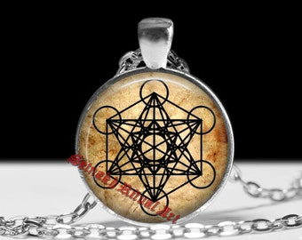 Metatron's cube pendant, sacred geometry jewelry, sacred figure, Fruit of Life talisman, magic amulet #99