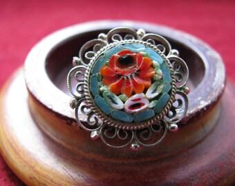 Vintage Micro Mosaic Ring