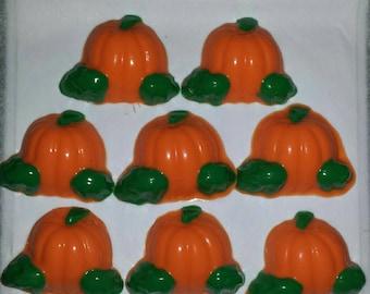 Chocolate pumpkins/Fall/Halloween/Favor/Cupcake Topper