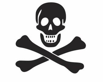 Jolly Roger Decal, Skulls and Crossbones, Skull Decals, Pirate Decals, Jolly Roger Gifts, Skull and Crossbones Gifts, Skull Gifts