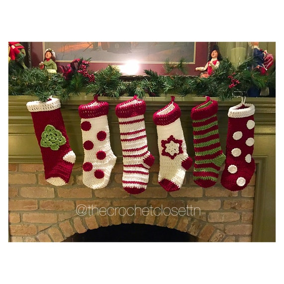 Handmade Christmas Stockings 6 Designs By Thecrochetclosettn