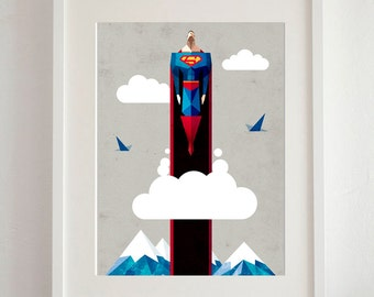 Superman Art Print - A3