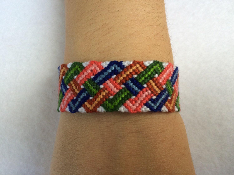 overlapping zig zag friendship bracelet