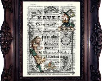 Alice in Wonderland Print Alice in Wonderland Decoration Alice in wonderland Decor Alice in Wonderland Party Mad Hatter Tea Party Tea C:541