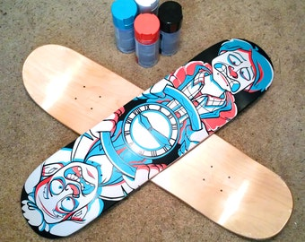 Custom Hand Painted Skate Decks