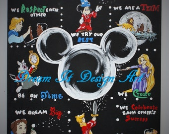 Disney Class Rules Poster -- Limited Edition Teacher Fine Art