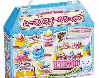 """Kutsuwa Fuwa Fuwa Mousse Paper Clay """"Dessert Sweets Shop"""" Japanese Kawaii DIY Kit"""