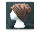 Clearance, Knit Hat, Brown Wool Blend, Men's Knit Hat, Women's Knit Hat, Knitted Hat, Mens Hat, Womens Hat, (WB10)
