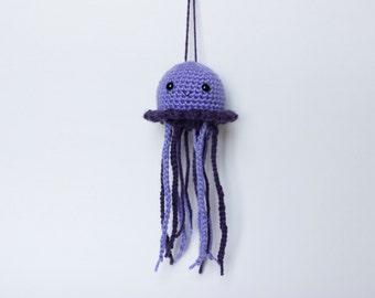 Amigurumi Crochet Jellyfish, Purple, Grape