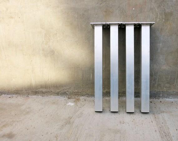 """Aluminum Metal Tube Table Legs (Set of 4) 12""""-30"""" height"""